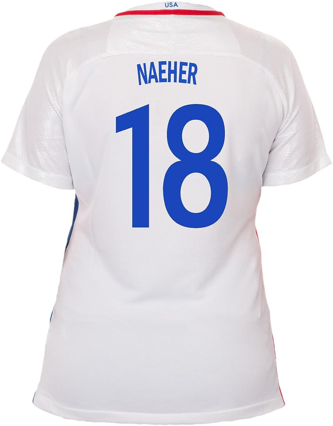 Nike Naeher #18 USA Home Soccer Jersey Rio 2016 Olympics Women's