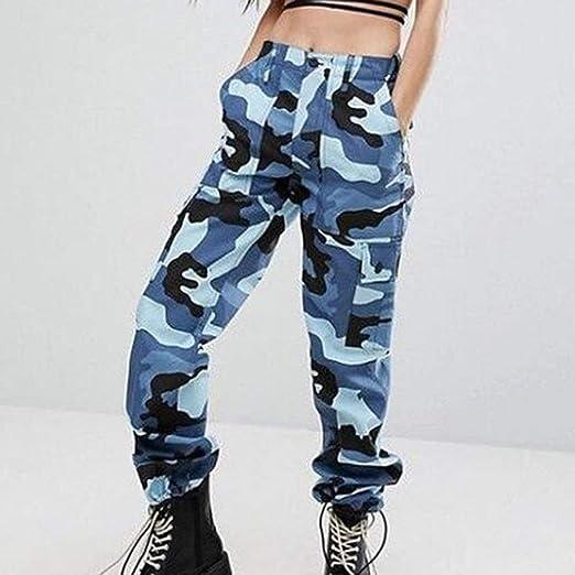 Anaisy Las Mujeres De Los Hombres De Moda Hombres Ocasional Camuflaje Los  Pantalones De Joven Las Mujeres Pantalones De Chándal Sueltos Pantalones De  ... 3fb11e4d765e