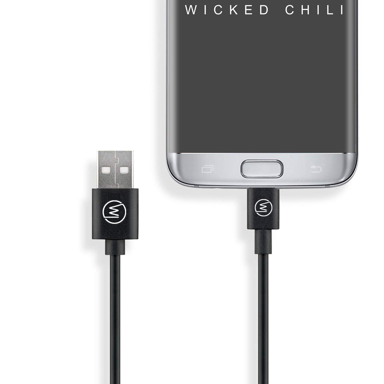 Wicked Chili Ultra Fast microUSB carga rápida Cable/Cable de datos - cable de carga de alta velocidad para Samsung, Huawei, Sony, Nokia, Blackberry, HTC, ...