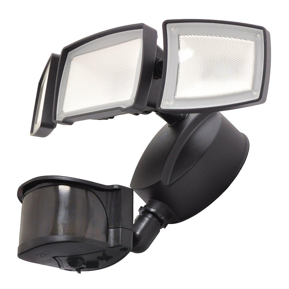 Good Earth Lighting Three-Head Creep LED Motion Security Light - Bronze