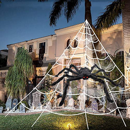 Easy Halloween Costumes For Office Party (3pcs 200'' Halloween Spider Web 30