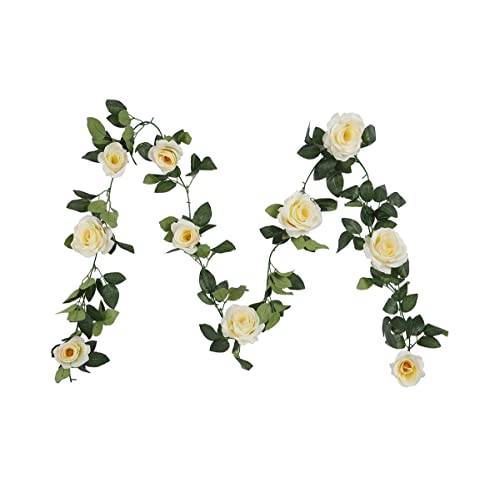 Floral garland amazon houda vintage artificial fake silk flowers rose garland plant vine home garden wall wedding decor 1 mightylinksfo
