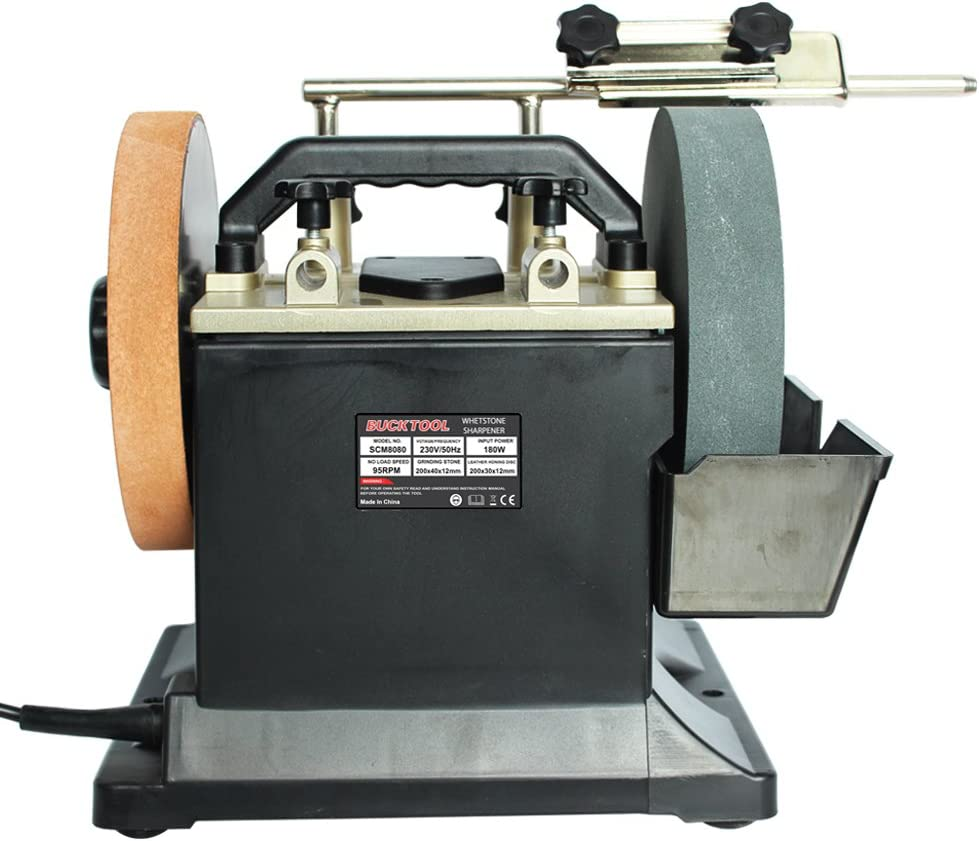 Bucktool 8-Inch Two-Direction Water Cooled Wet and Dry Sharpener SCM8080