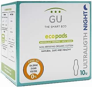 Compresas Ultraligth Noche con Alas - 100% Algodón ecológico - No irritan - Sin plásticos - Pieles ultra sensibles: Amazon.es: Salud y cuidado personal