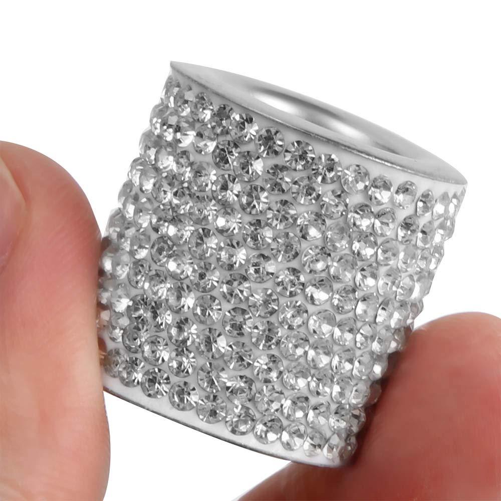 Winbang Kristall Autositz Kopfst/ütze Kragen Dekor Charms Diamond Bling Car Interior Zubeh/ör f/ür Frauen Strass Universal 1pc