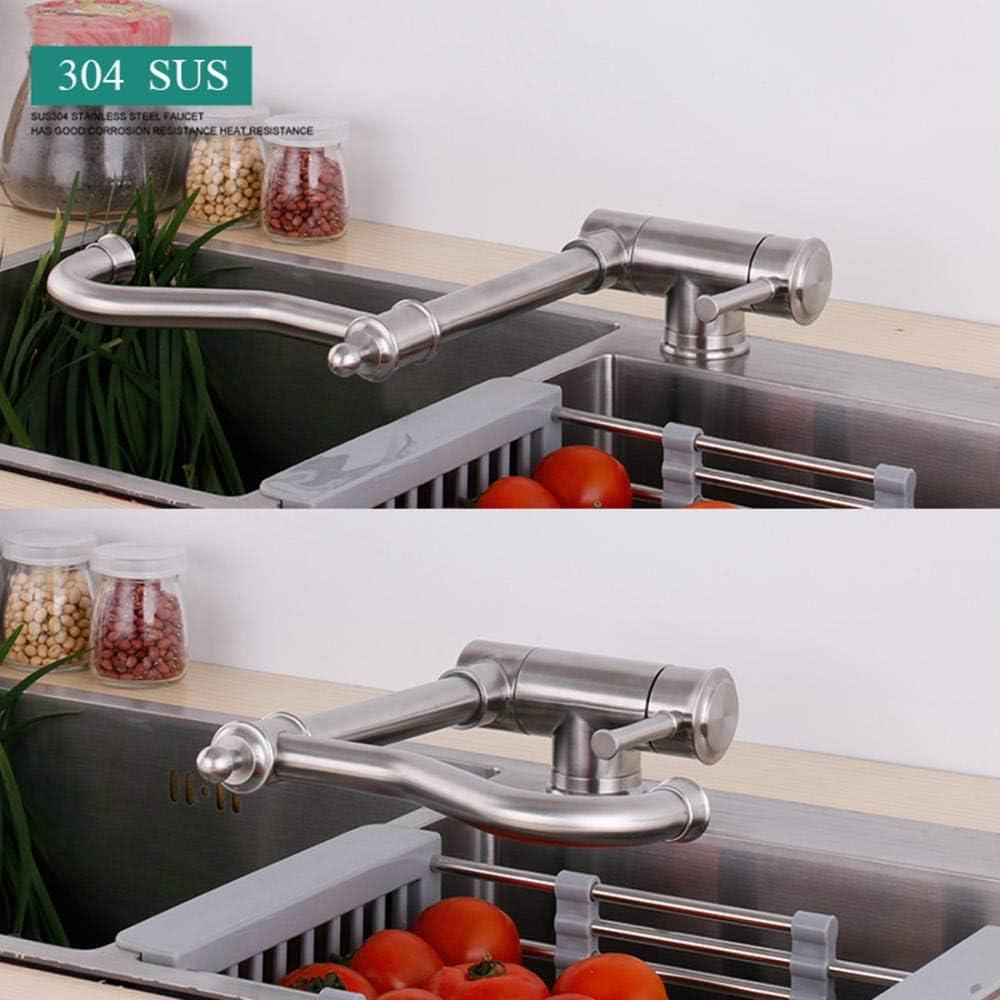 lacado negro cobre fr/ío y calor antiguo fregadero grifo cocina abatible y extraible grifo cocina ventana-Negro