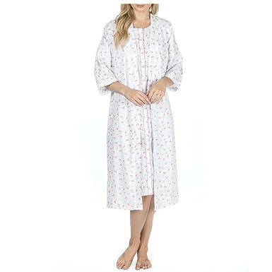 COTTONIQUE Ladies Floral Nightdress and Kimono Robe Set