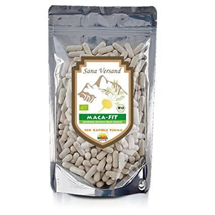 Maca Fit 300 cápsulas, polvo crudo organico, original del Peru, fantástico para estimular