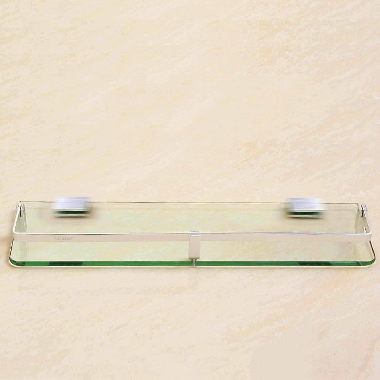 DZHTWSRYGR Bathroom Corner Shelf Glass Shelf Wall-Mounted Shelf Bathroom Hanger Shelf