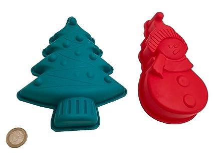 Navidad muñeco de nieve Árbol de Navidad molde de silicona chocolate Forma cubitos de hielo molde