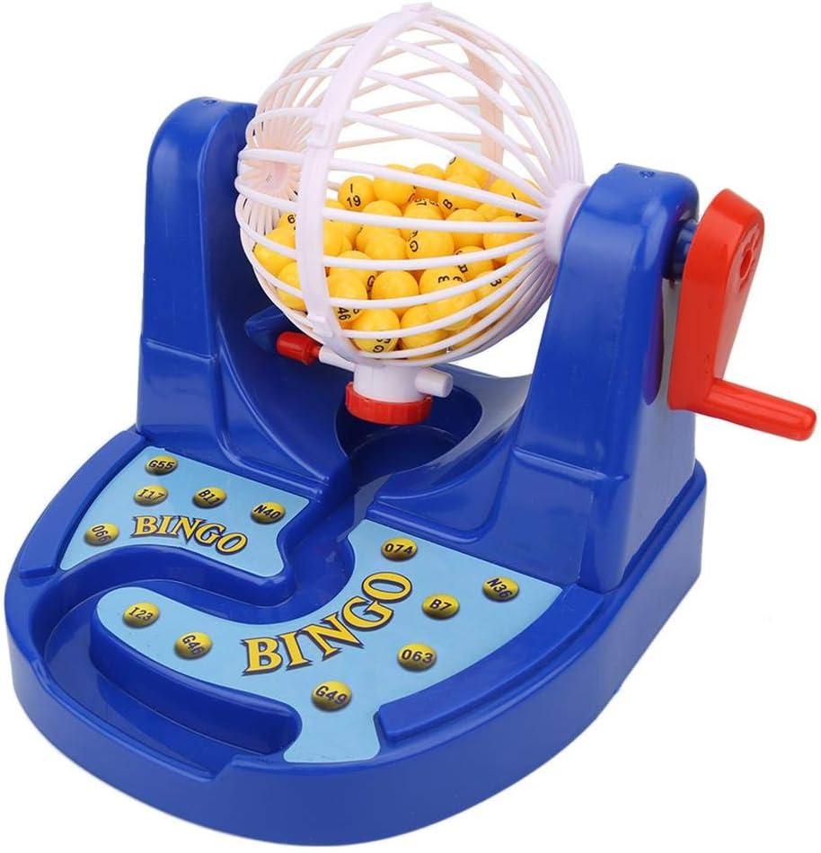 Máquina de lotería, Mini Bolas de bingo manuales portátiles Dibujar a mano Agitar Lucky Ball 75 Bolas para niños: Amazon.es: Bebé