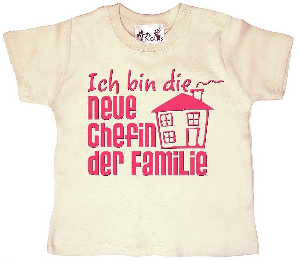 M/ädchen T-Shirt lang/ärmlig Dirty Fingers Ich bin Papis kleine Prinzessin