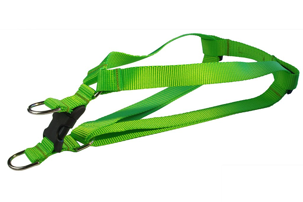 Green Small Green Small Sassy Dog Wear Small Neon Green Nylon Webbing Dog Harness, 5 8-Inch Wide, Adjusts 15 to 21-Inch