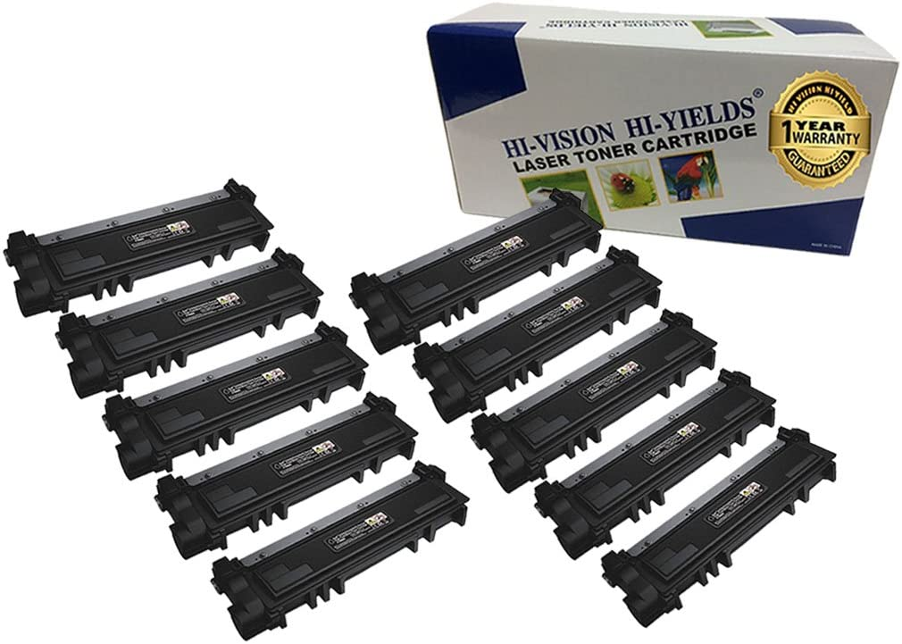 (10-Pack, Black) HI-VISION HI-YIELDS Compatible 593-BBKD PVTHG Toner Cartridge Replacement for Dell E310dw E514dw E515dw E515dn [2,600 Pages, High Yield]