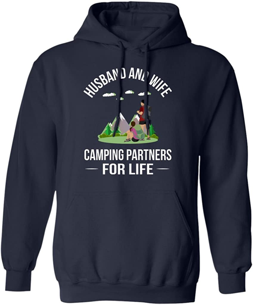 Hoodie Husband and Wife Camping Partners for Life Funny Campers Lovers