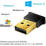 rts Bluetooth Dongle Adapter Receiver Transfer with USB CSR 4.0 for PC Computer Laptop Supports Windows 10 8.1 8 7 Vista XP