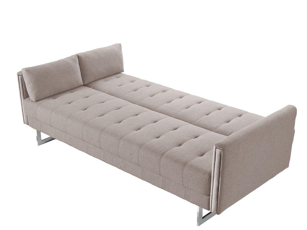 Amazon.com: Divani Casa Tejon Modern Beige Fabric Sofa Bed ...
