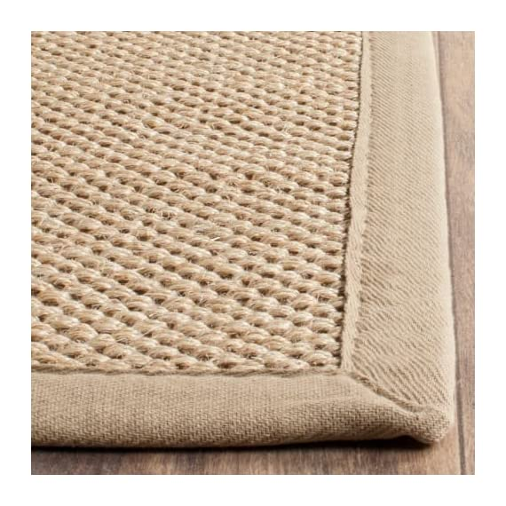 Safavieh NF141C-10 Area Rugs - Construction Power Loomed Fiber/Finish 100% Sisal Pile Backing Power Loomed Rugs Do Not Use Backing Material On The Underside Of The Rug. A Thin Coat Of Latex Is Applied To The Underside Of The Rug To Secure The Yarns Firmly In Place. This Latex Coat Is Virtually Invisible And Is Not Considered Backing Material. - living-room-soft-furnishings, living-room, area-rugs - 61lYJsg7CFL. SS570  -