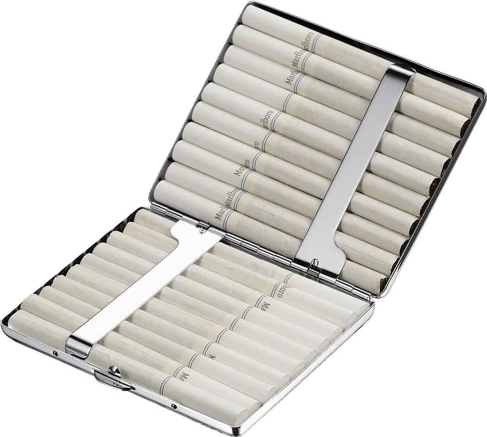 Visol Products Mirror Polished Stainless Steel Cigarette Case