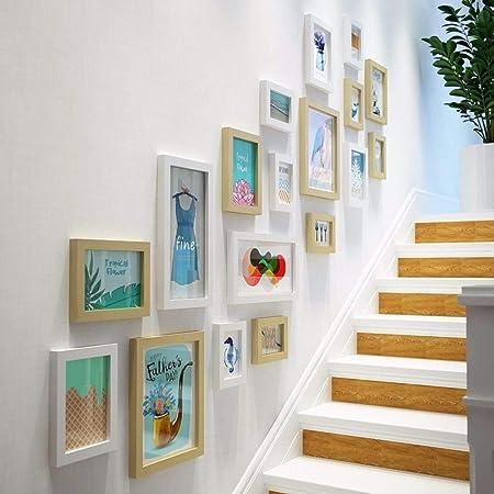Reloj de pared Sin marcar Número Cuarzo Reloj de pared Salón Decorativo Reloj interior Dormitorio Reloj Cocina Escalera Decoración de pared Foto vertical Versión creativa Pared decorada en un simple y: Amazon.es: