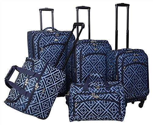(5-Pc Luggage Set in Blue)