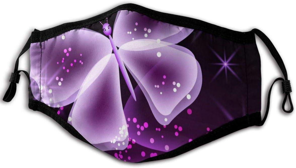 Miedhki Maschere Viola Farfalla 15,2 x 22,9 cm Tessuto Paradenti Maschera Per Corsa AllAperto