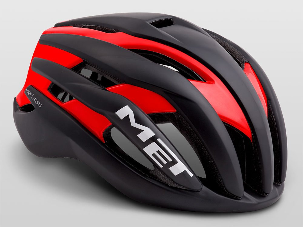 MET(メット) TRENTA(トレンタ) ヘルメット ブラックレッド Medium  B07B49XWMZ