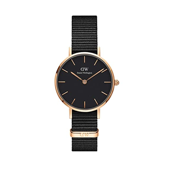 c34f3922420b1c Daniel Wellington Women's DW00100247 Classic Petite Cornwall in Black 28mm  Watch: Amazon.ca: Watches