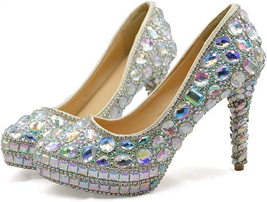 Amazon.com   AB Crystal Wedding Dress