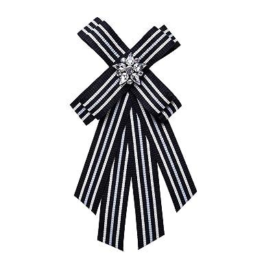 Wicemoon Negro Broches de Bowknot Cintas Cintas Para Mujer Camisa ...