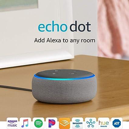 NEW Amazon Echo Dot 3rd Generation w// Alexa CharcoalSandstoneHeather Gray