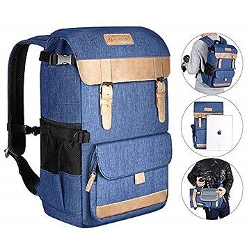 Neewer Multifuncional Mochila para Cámara de Ocio 27,5x21x41 Centímetros Poliéster Equipo de Fotografía Impermeable Bolsa de Viaje para Trípode, Canon ...