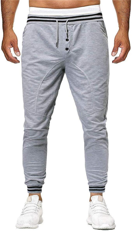 Hombre Cintura Media Pantalones Largos Moda Casuales Pantalón de ...