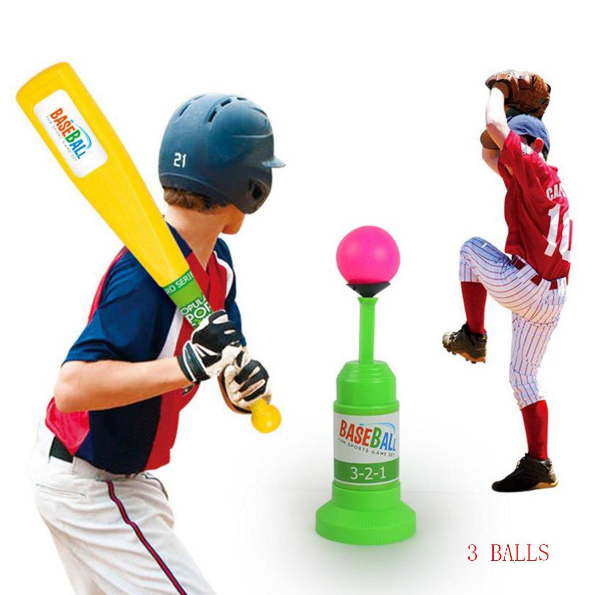 子供用野球トレーニングセット自動Launcher Baseball Batおもちゃ、インドアアウトドアスポーツ野球ゲームセットfor Children 3 + B07CZKHYL1