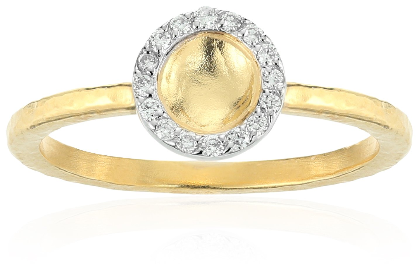 GURHAN Hourglass Diamond Gold Small Round Diamond Pave Ring, Size 6.5 by Gurhan