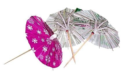 Disfraces de cócteles desechables 100 cuentros Bebe Paraguas Decoración de postres
