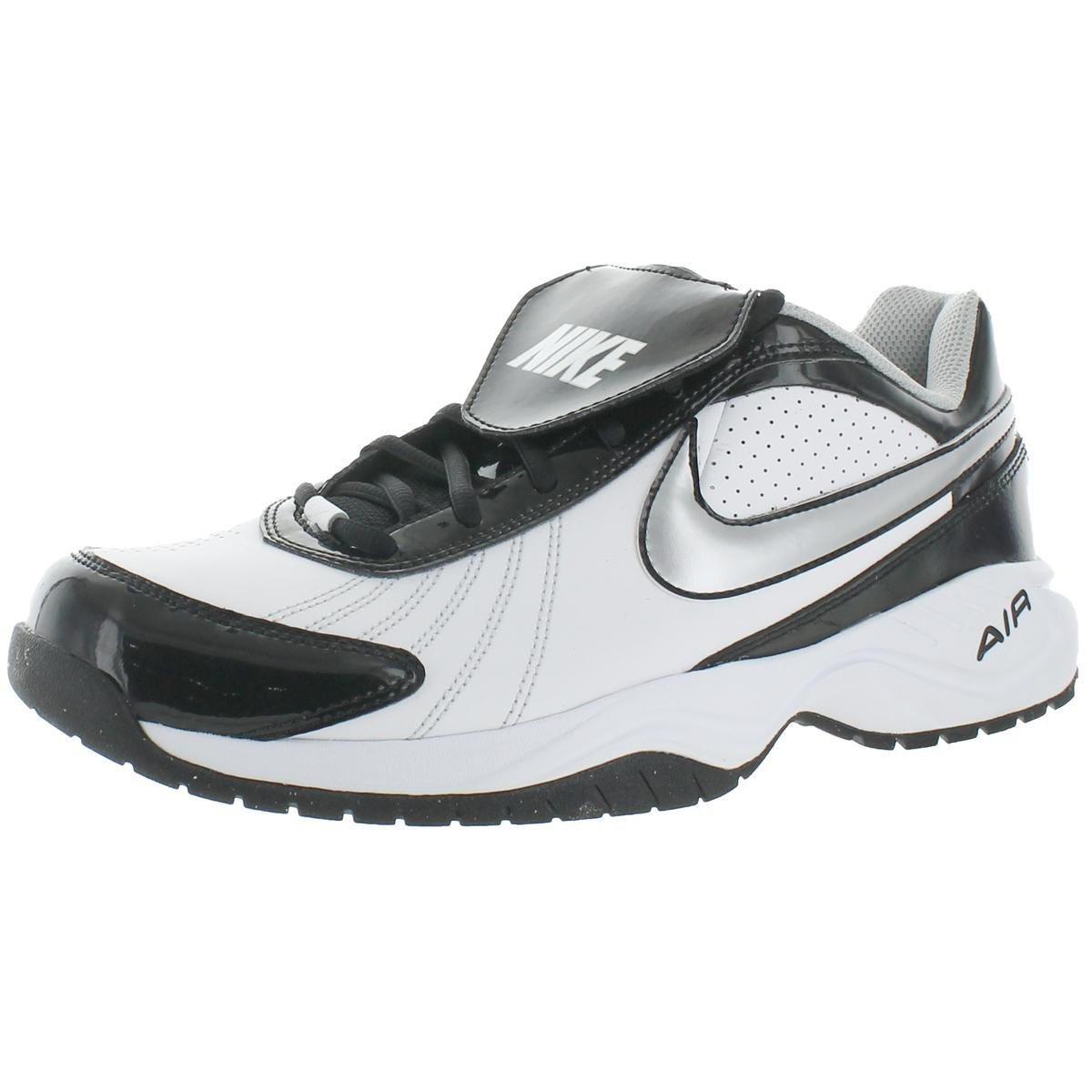 Nike Air Diamond Trainer Mens Faux Leather Baseball Trainer Shoe White Size 11.5