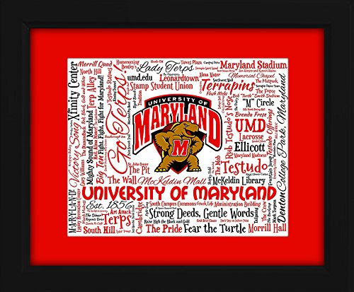 University of Maryland (UMD) 16x20 Art Piece - Beautifully matted and framed behind glass -