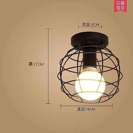 Lámpara de techo de luces LED minimalista puerta del ...