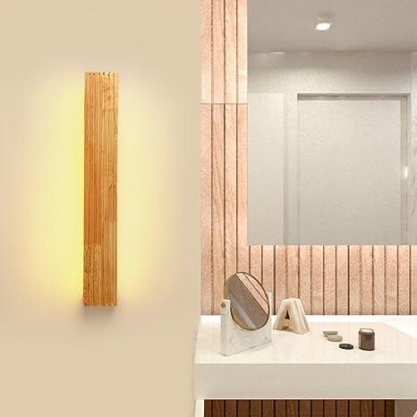 Solid Wood, Mirror Light, LED Wall Washer, 8W, Lampada da bagno ...