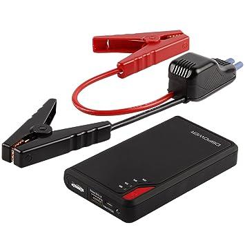 DBPOWER Jump Starter 8000mAh 300A Arrancador de Puente para Coche Banco de Energía Power Bank Cargador de Batería Externo para iPhone iPad Samsung ...