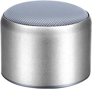 Tarjeta De Sonido del Altavoz De Bluetooth Inalámbrico Caja De Sonido De Aluminio Mini Teléfono Portátil Cañón Bajo Al Aire Libre Portátil (Color : Silver): Amazon.es: Electrónica