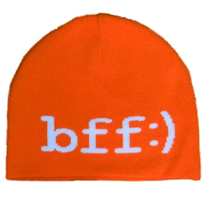 Amazon.com  JCP Womens Orange Knit BFF Beanie Stocking Cap Hat  Clothing bae1f69a6ea