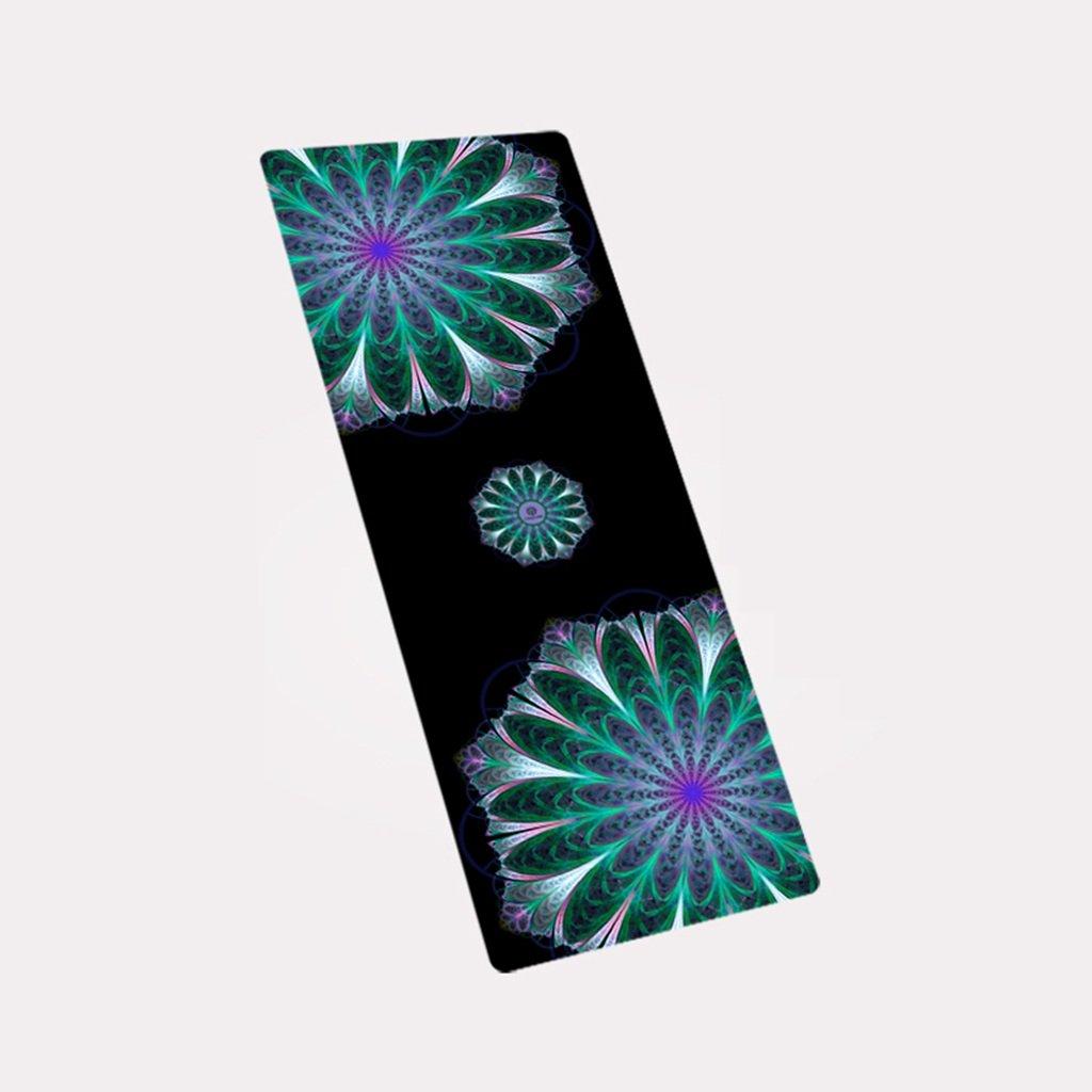 HCJYJD Yogamatten, Naturkautschuk Antirutschmatte Spezialität Anti-Rutsch-Fitness-Matte Verlängern Widen Collapsible Trainingsmatte (Farbe :  19, größe : 4mm)