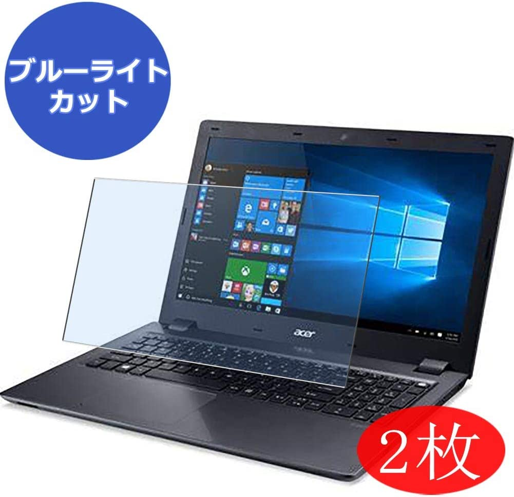 """【2 Pack】 Synvy Anti Blue Light Screen Protector for ACER Aspire V5-591 / V5-591G 15.6"""" Screen Film Protective Protectors [Not Tempered Glass]"""