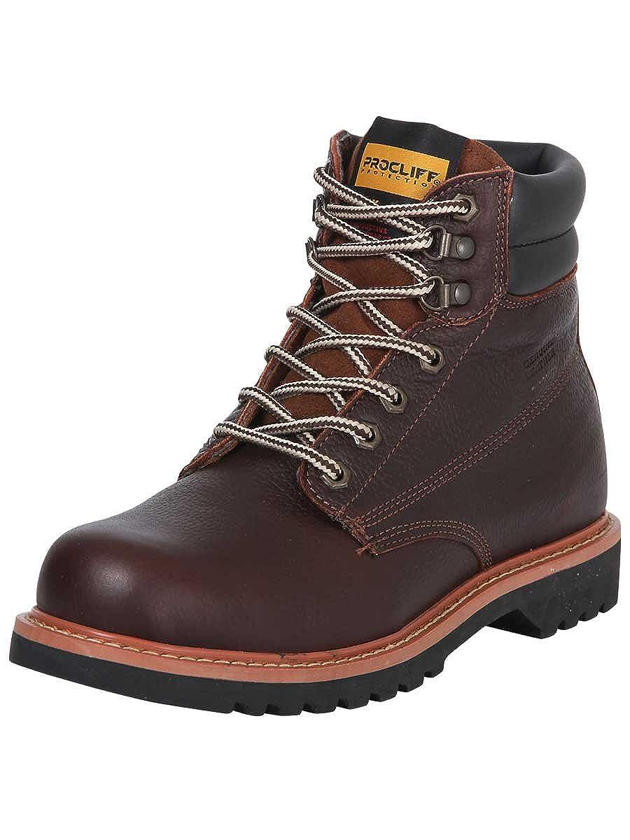 Amazon.com | Botin Trabajo S/C Agujetas ID 35214 Procliff Protection (Bot) Flother Cuero Walnut | Boots