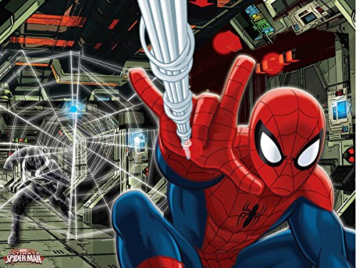 """Edge Home Products Spider-Man Canvas with LED Lights, 12 by 16"""", Red"""