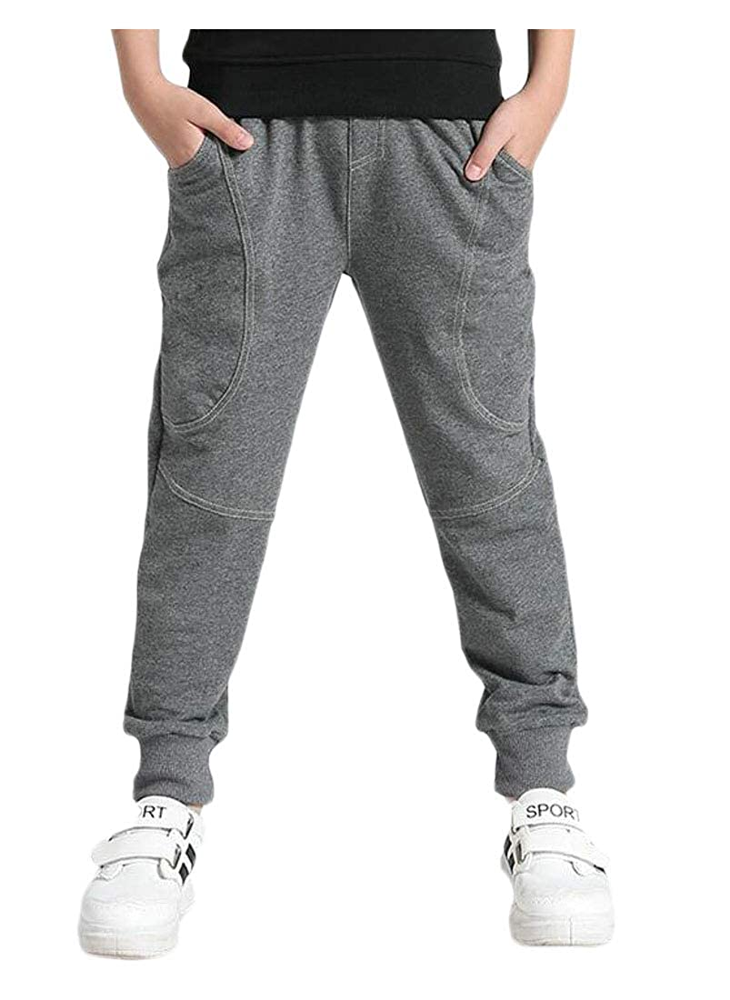 Pandapang Boys Jogging Casual Cute Athletic Cotton Trousers Loose Pants