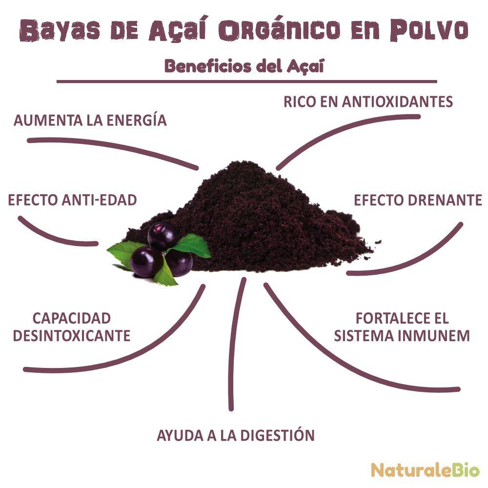 Bayas de Acai Orgánico en Polvo [Freeze - Dried] 200g | Pure Acaí Berry Powder Extracto crudo de la pulpa de la baya de açaí liofilizado | 100% Bio ...