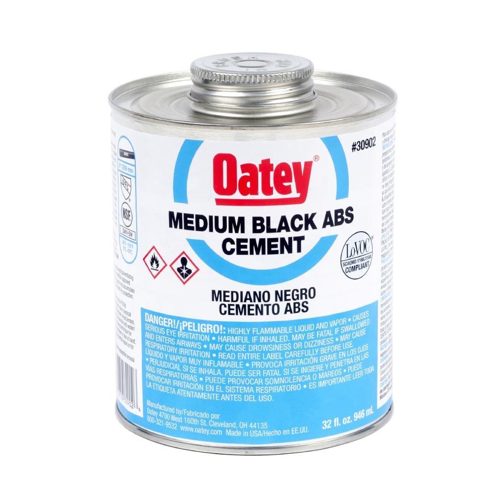 Oatey 30902 ABS Medium Cement, Black, 32-Ounce